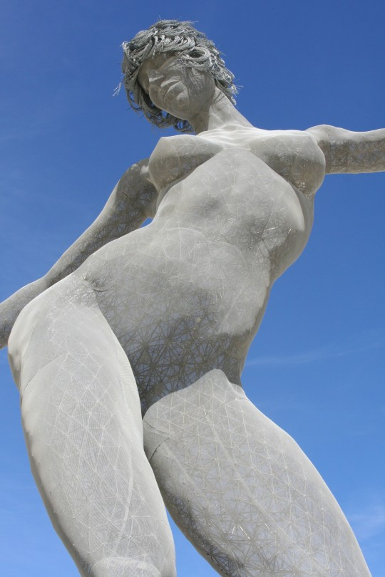 30 foot statue of nude woman.