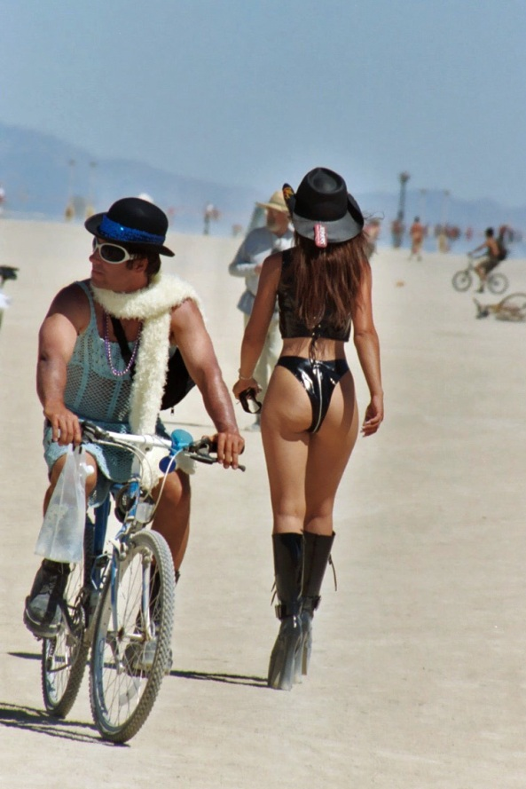 Advanced Whip Cracking??? Hey, It's Burning Man ... Outrageous Outfits From Burning Man