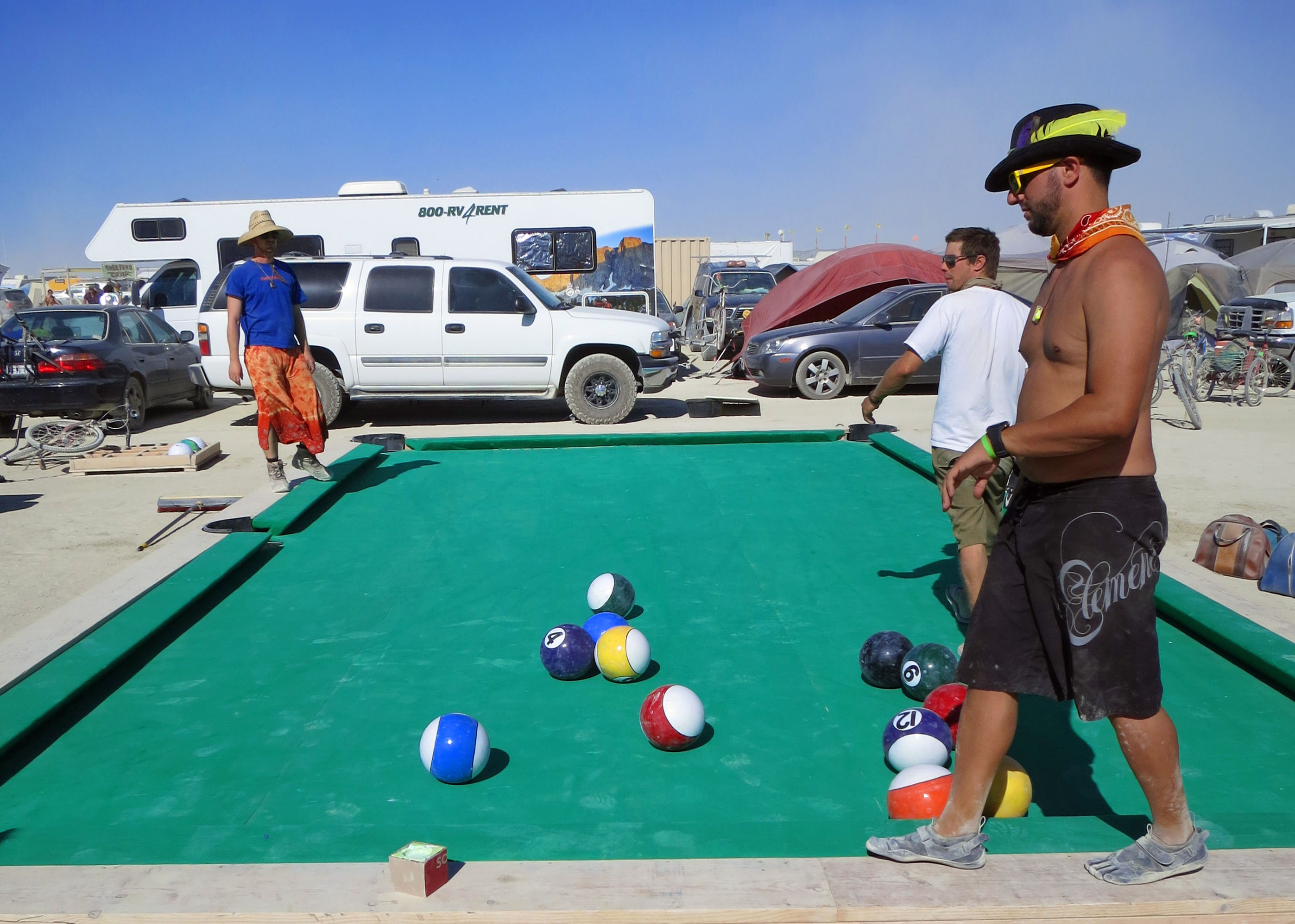 Setting Up A Pool Table The Art Of Gifting Burning Man 2012 Wandering Through Time And