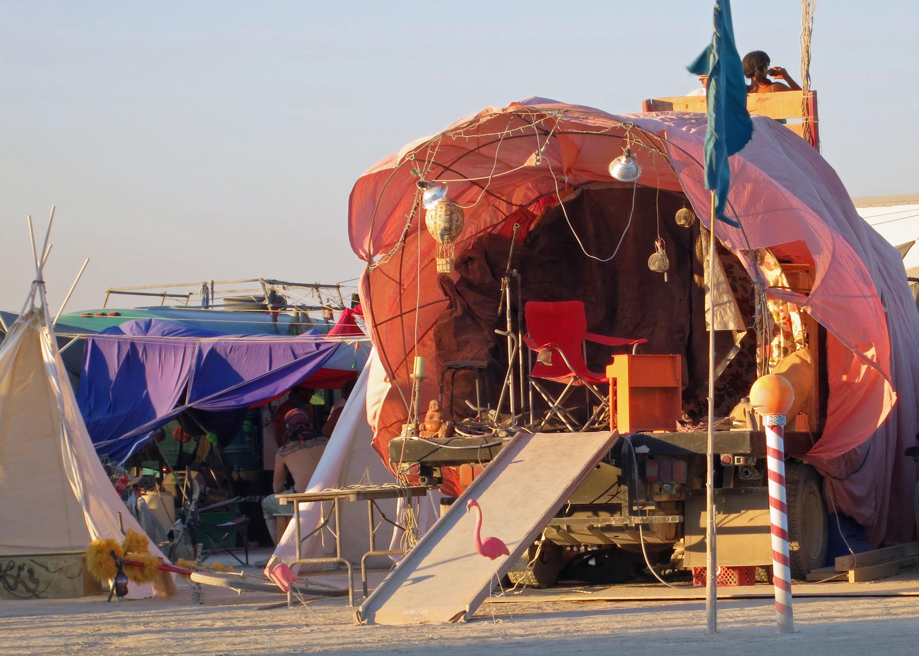The gypsy tent directly across the road from us at 550 and Foxglove on the inner circle at Burning Man 2012. & Light House Burn at Burning Man | Wandering through Time and Place