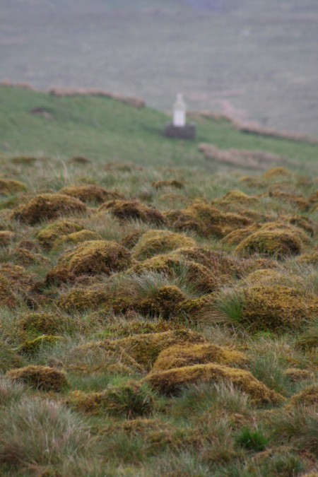 The ghostly grave of John Brown the Martyr on a lonely Scottish moor.