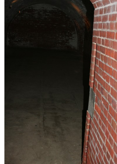 "Once you've become thoroughly ""spooked,"" every dark corridor, such as this one at Fort Mifflin becomes a potential hiding place for a ghost."