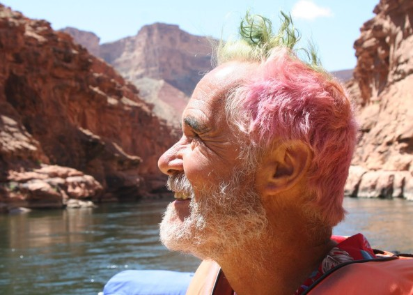 Tom and I would go on to having numerous adventures. And he remained as wild as ever. Here is on a trip down the Colorado River that Peggy and I went on with him a few years ago.