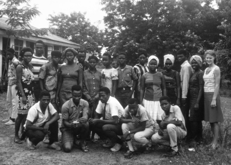 This was the Eleventh Grade class at Gboveh High School in Gbarnga in 1967. Amani Page is second from left on the bottom row.