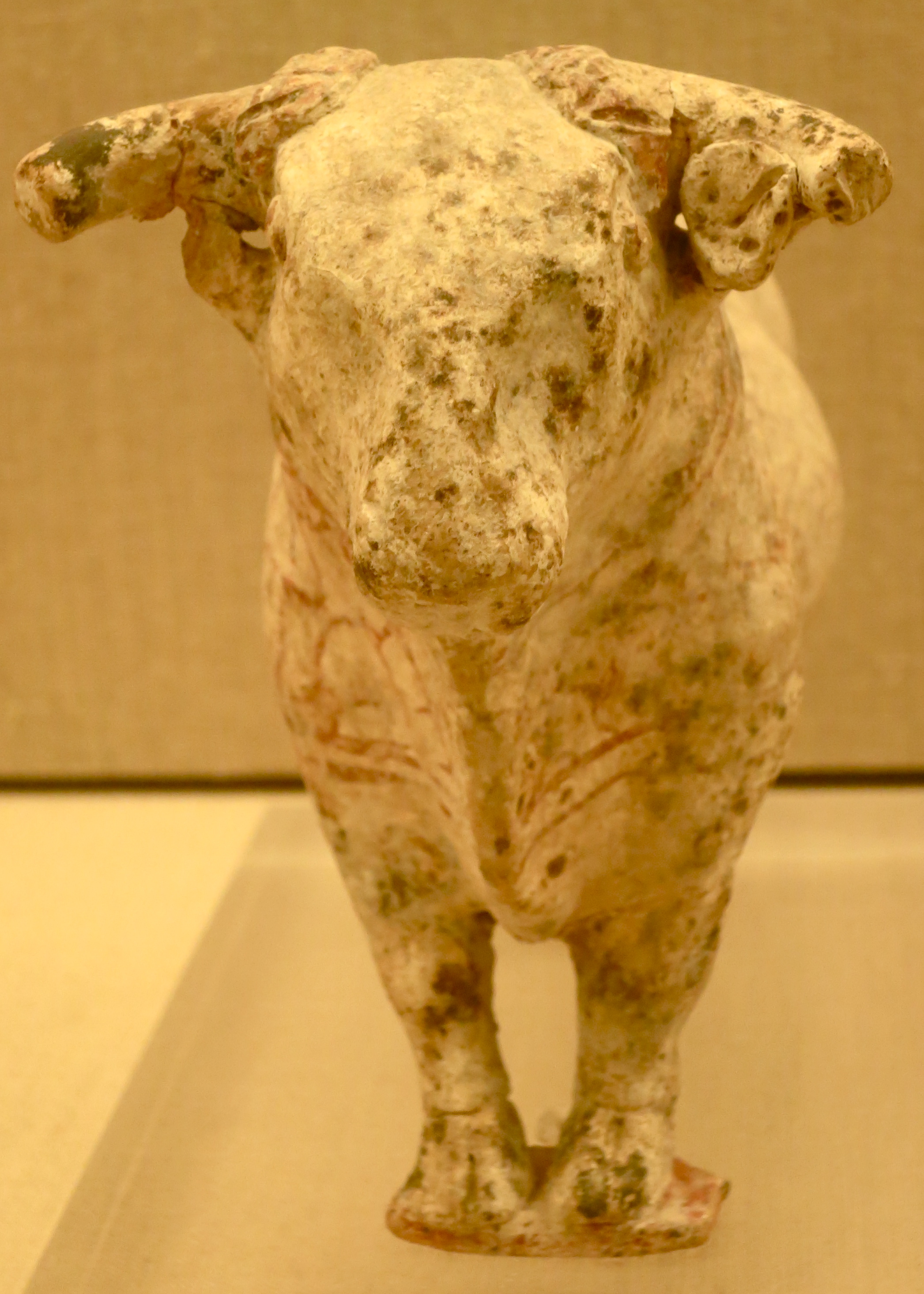 The Museum of Historic Thira also displays a number of small figurines such as this bull.
