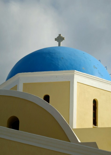 My concluding photo on the beautiful and unique churches found on the Greek island of Santorini.