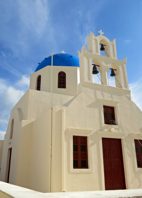 Another of Santorini's uniquely beautiful churches.