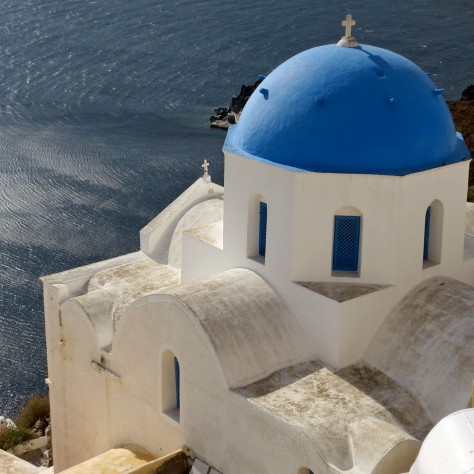 I like this church on Santorini because of its almost sensuous lines. Can a church be sensuous? Having the Mediterranean for a backdrop didn't hurt either.