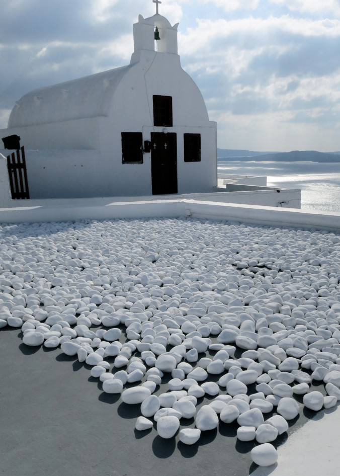 I found this church with its white rocks surreal.