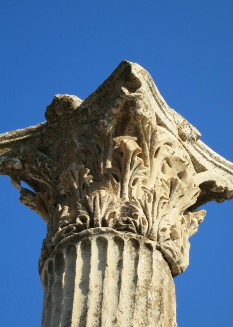 The Library of Celsus used Corinthian Columns shown here as opposed to the Ionic columns shown above column show.