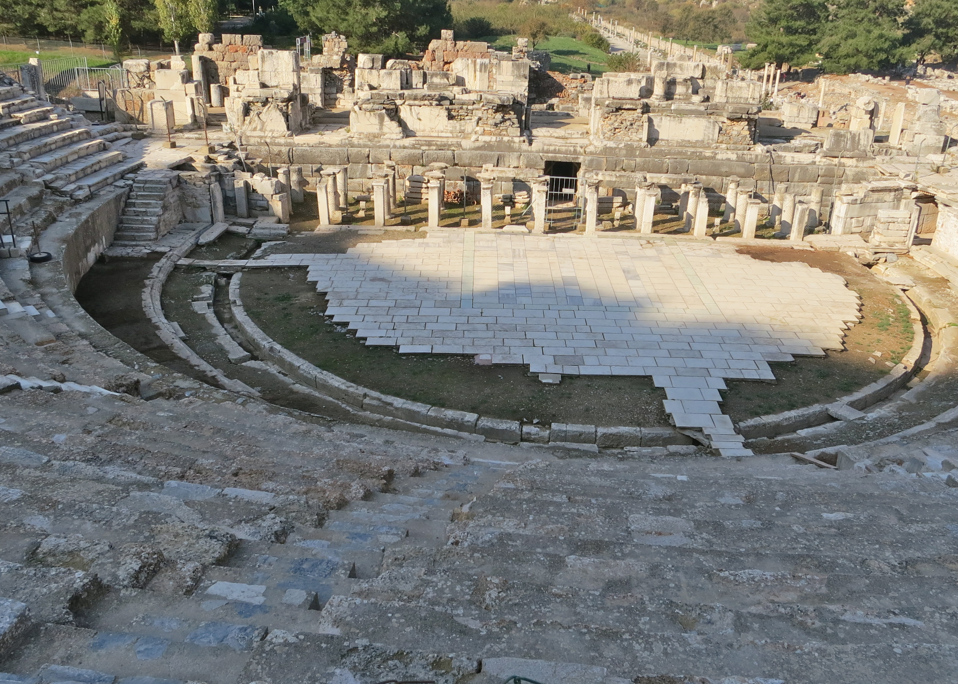 The Great Theater of Ephesus provided seating for 25,000 people. Acoustics are excellent. Modern performers have included Sting and Diana Ross.
