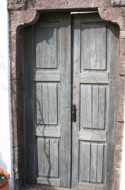 The most secretive of doors are old ones like this one in Oia.