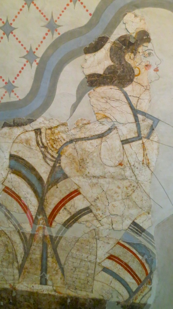 Excavated ruins of the ancient city of Akrotiri on Santorini are a candidate for the lost city of Atlantis. If so, this mural taken from the ruins may show a resident of the Lost City.