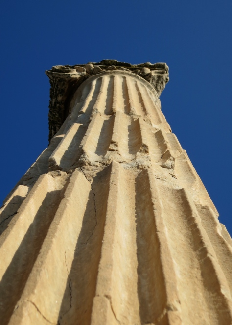 The iconic ionic Greek column with its simple scroll like top is said to have originated in Ephesus.