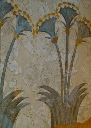 This fresco is one of many that lined the walls of buildings in Akrotiri, Santorini is close to 4000 years old.