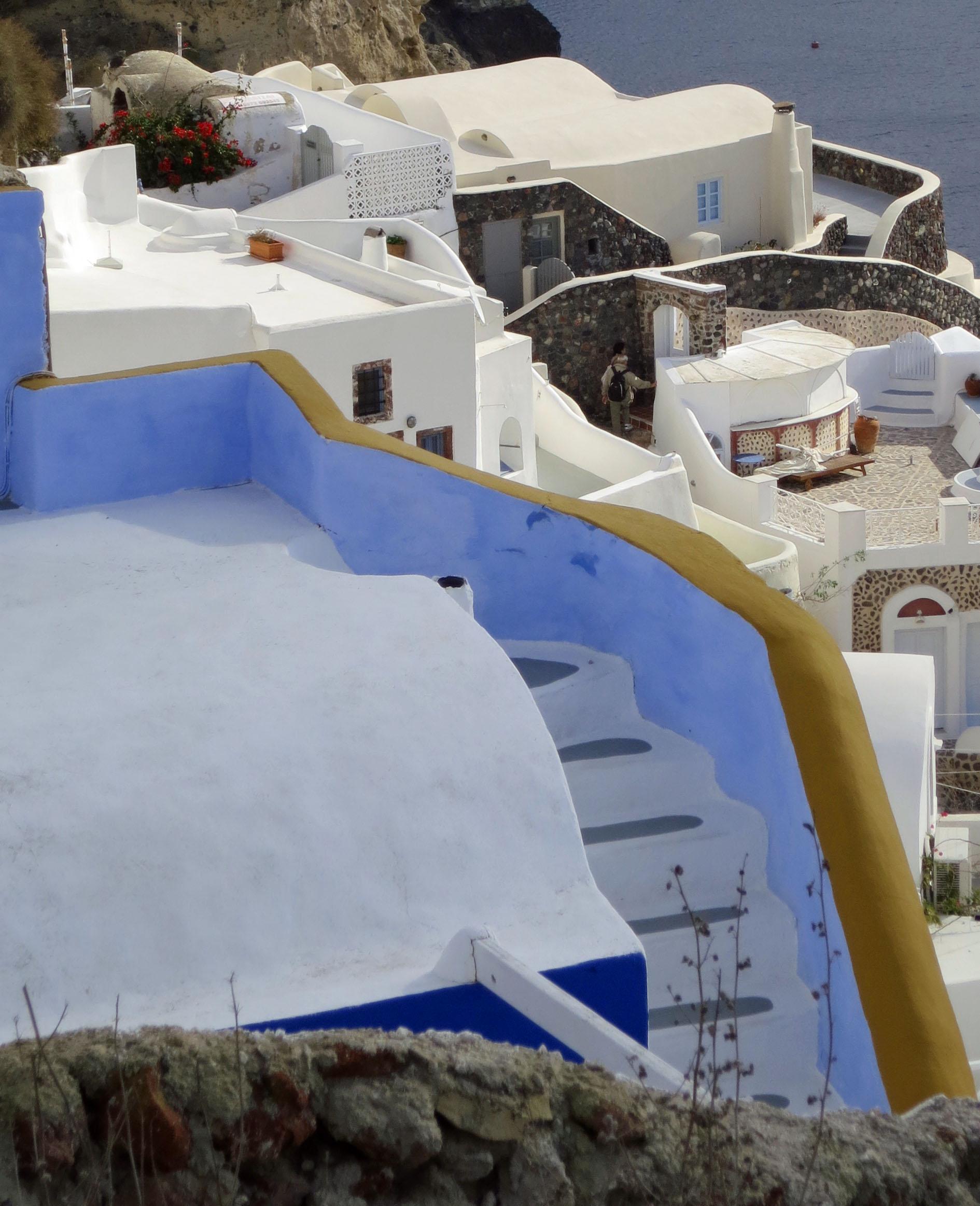 This set of stairs on Santorini added a touch of color.