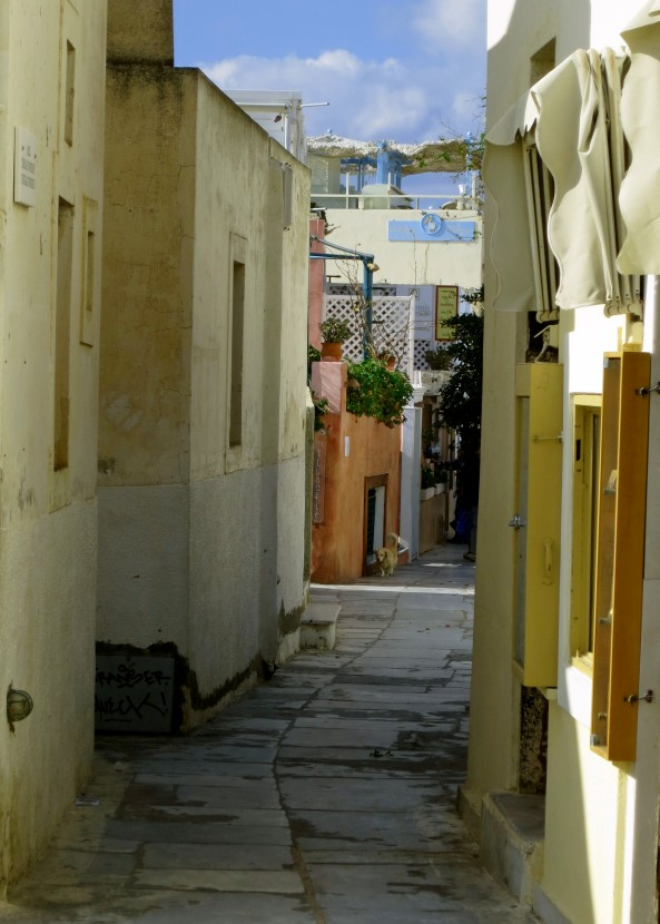 One of the narrow walkways we followed through town. The lack of people was indicative of the fact we were traveling off season. Instead of 3 or 4 cruise ships in port, there was only ours.