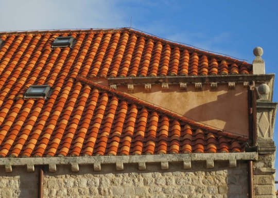 I like this view because it shows what Dubrovnik's red tile roofs look like in the sunlight!