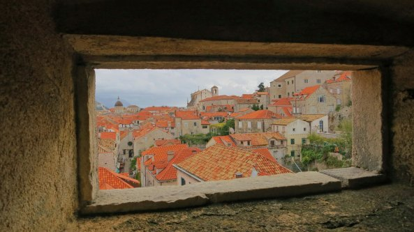 A final view of Dubrovnik taken from the walls. This photo was shot through a window of one of the city's many guard towers.