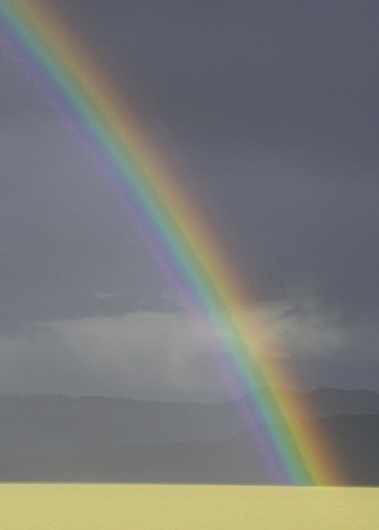 The Black Rock Desert can be quite beautiful, as this rainbow demonstrates.