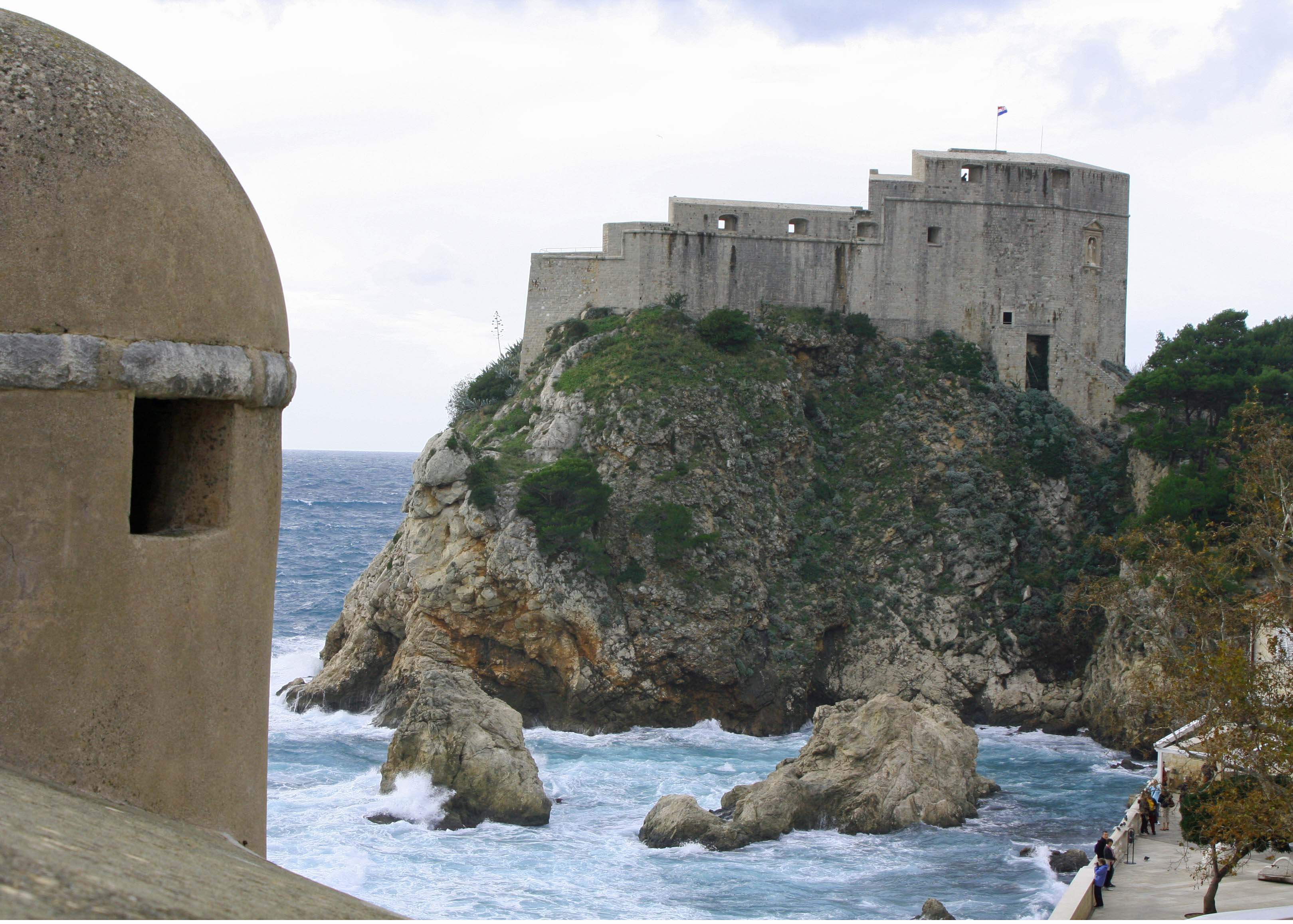 If the walls weren't enough to discourage an invasion of Dubrovnik, the Fort of St. Lawrence stood on an opposite peninsula. (Photo by Peggy Mekemson)