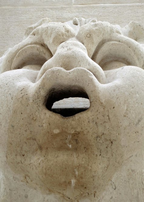 I took this closeup of the Dubrovnik gargoyle Peggy photographed above. Note the water dribbling down its chin.