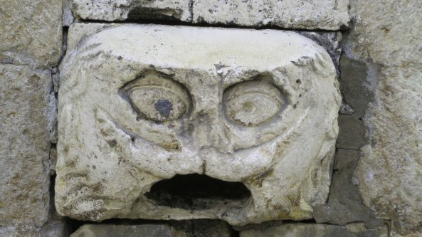 I found this marvelous gargoyle about a foot off the Stradun connected the the Franciscan Monastery.