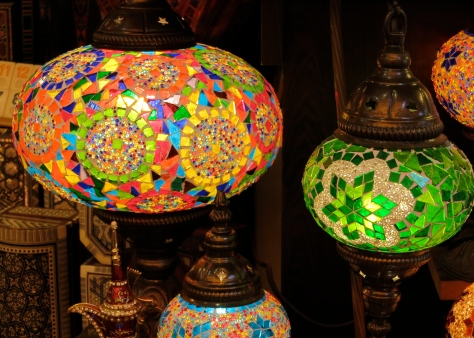 As we wandered through the shops of Kusadasi I was attracted by the rich colors.