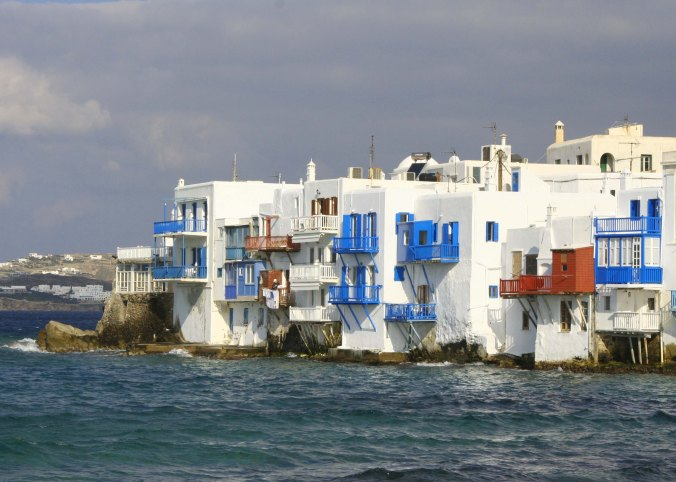 The area known as Little Venice is one of many charming sites on Mykonos.