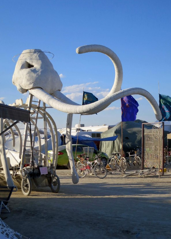 Hundreds of Mutant Vehicles, such as this Mammoth, make there way through camp and back and forth across the Playa.