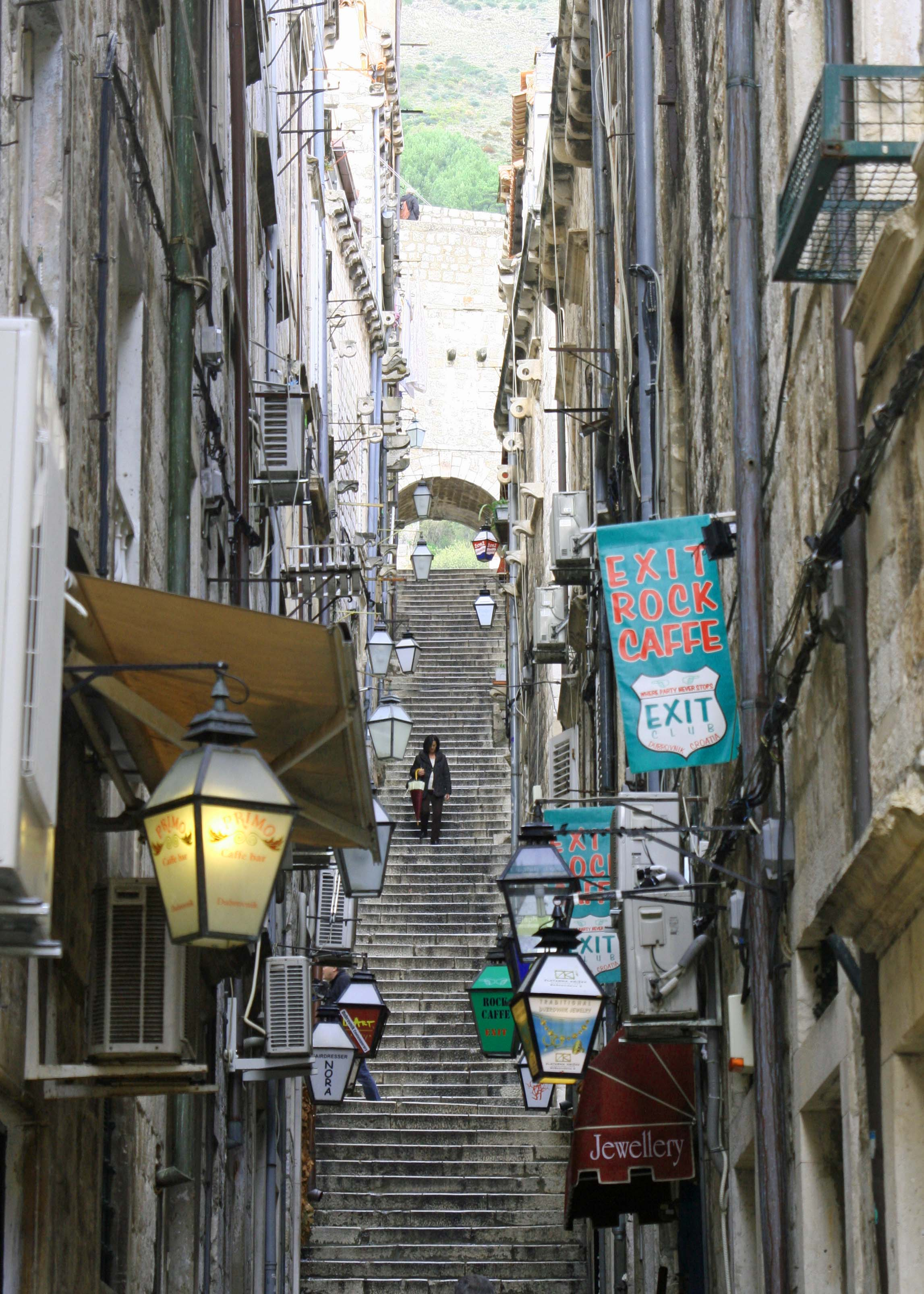 Walkways such as this and the one below branch off from the Stradun in Dubrovnik, Croatia and invite exploration.