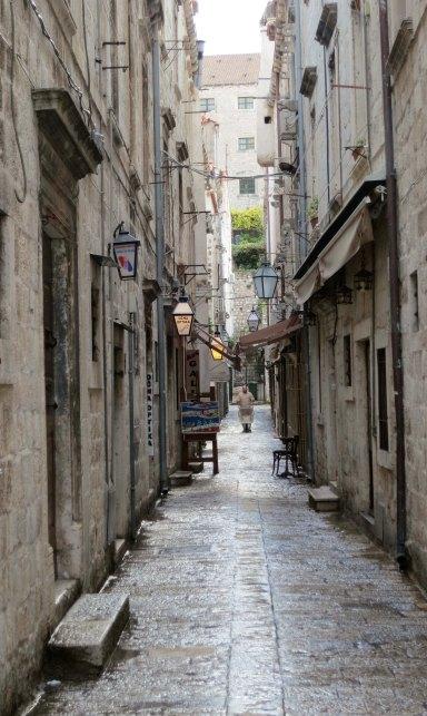 Dubrovnik walkway.