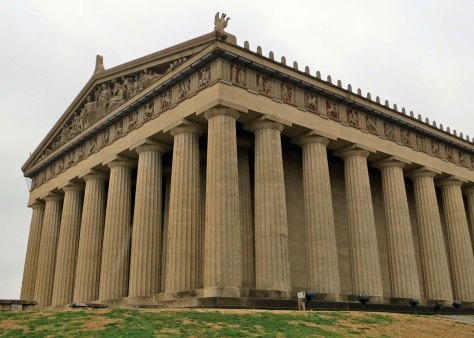 A full-scale replica of the Parthenon as it would have looked like originally can be found in Nashville, Tennessee. We stopped by to check it out after our Mediterranean tour while visiting with our daughter and her family.