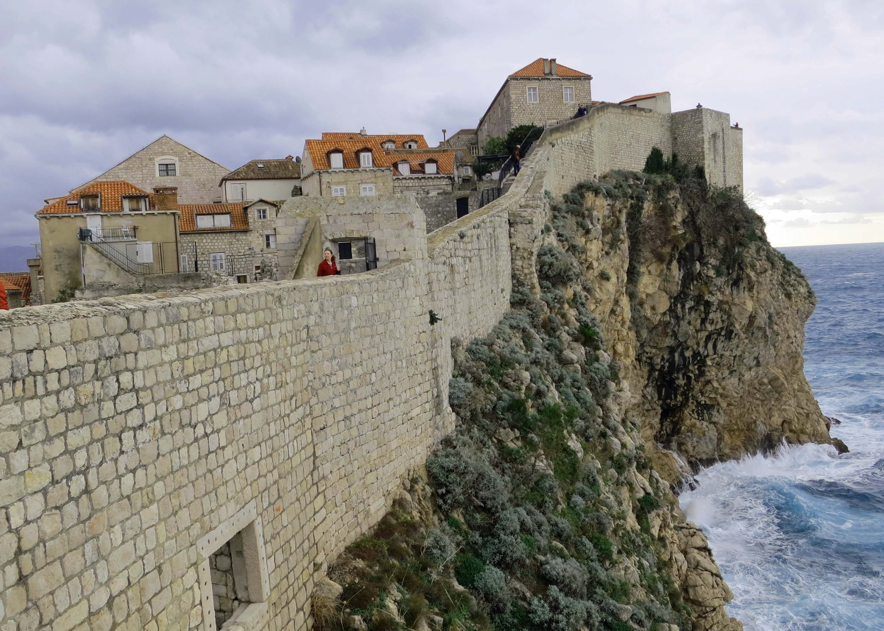 This photo provides a great perspective on why enemies would have thought twice... or maybe a dozen times, before attacking Dubrovnik.