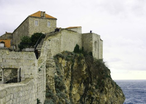 A final view of Dubrovnik wall. (Photo by Peggy Mekemson)