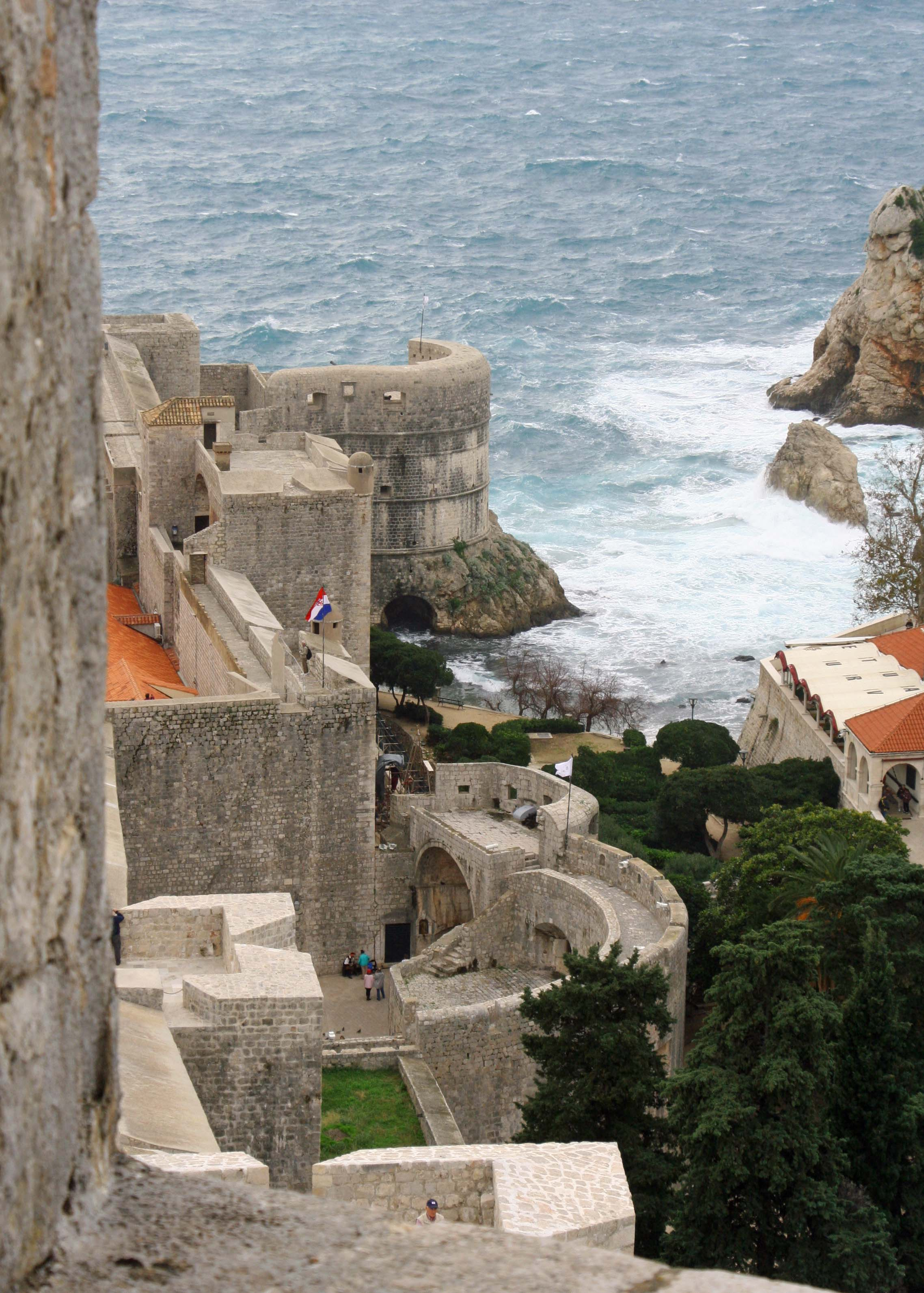 This photo of the walls was taken from Minceta Tower, the highest spot on the walls.