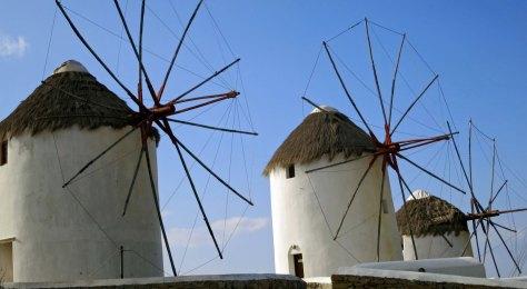 Three of the five windmills.
