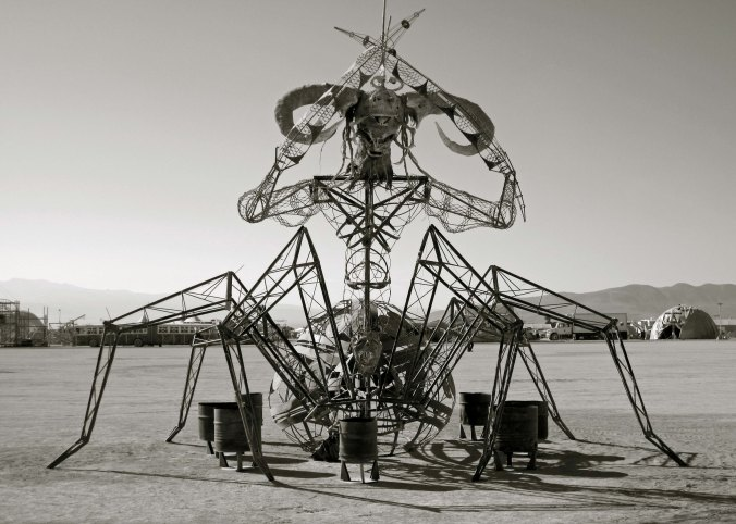 I feel that a number of other mutant vehicles at Burning Man would be quite at home in a steampunk Landscape. This is one. (Photo by Beth Lovering.)