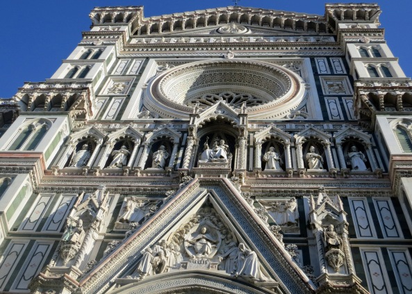A towering cathedral in Florence Italy.
