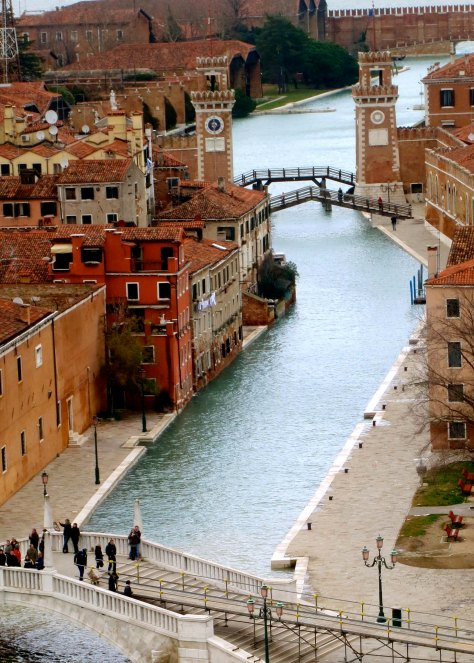 Altogether, There are some 25 miles of canals. Each one invites exploration. The building just visible on the right is the city's naval museum. Venice was once one of the world's greatest sea powers.