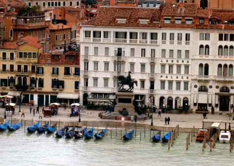 The presence of gondolas suggested we were getting near the center of Venice's greatest tourist attraction. The statue in the foreground is that of  Garibaldi, the man responsible for uniting the various city states of Italy in...