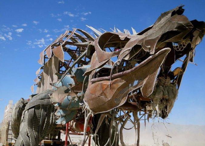 A final steampunk-like mutant vehicle found at Burning Man. (Photo by Curtis Mekemson.)