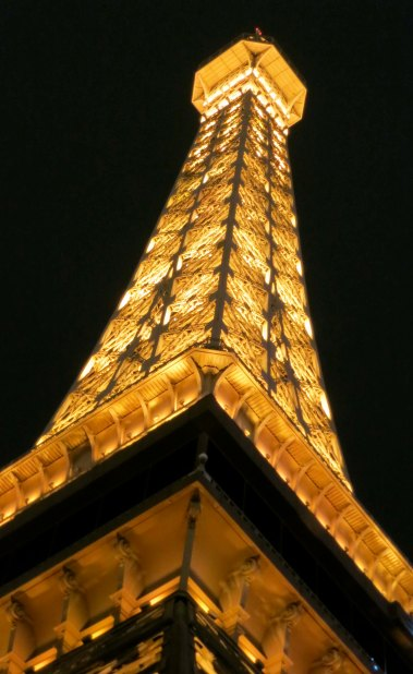 Not to be outdone, the Paris Casino features the Eiffel Tower.