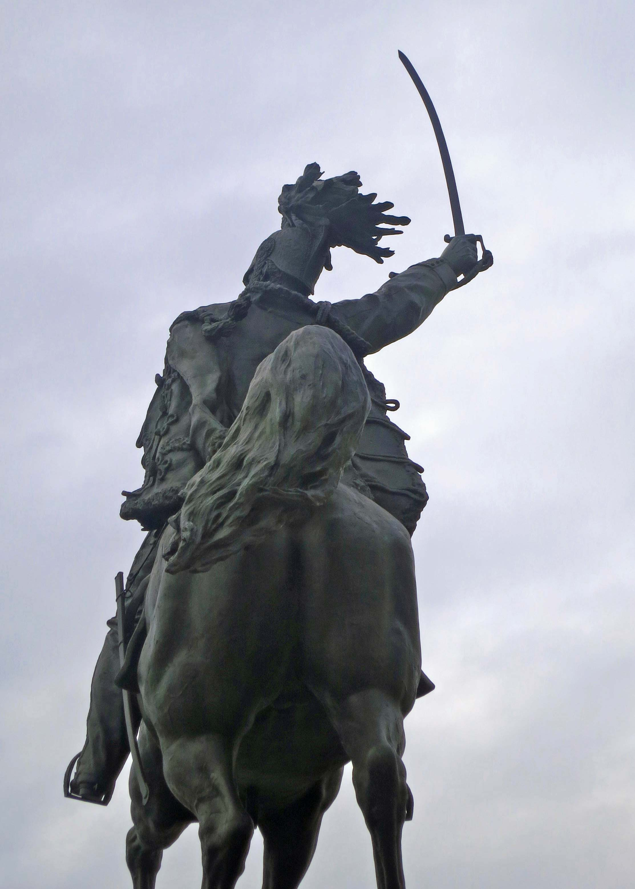 I took this photo of King Emmanuel charging into battle with his sword raised and horse's tail flying.