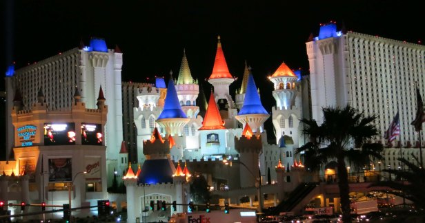 Wandering down the Las Vegas Strip at night can be a jaw-dropping experience. This is the Excalibur Casino, an adult Disneyland.