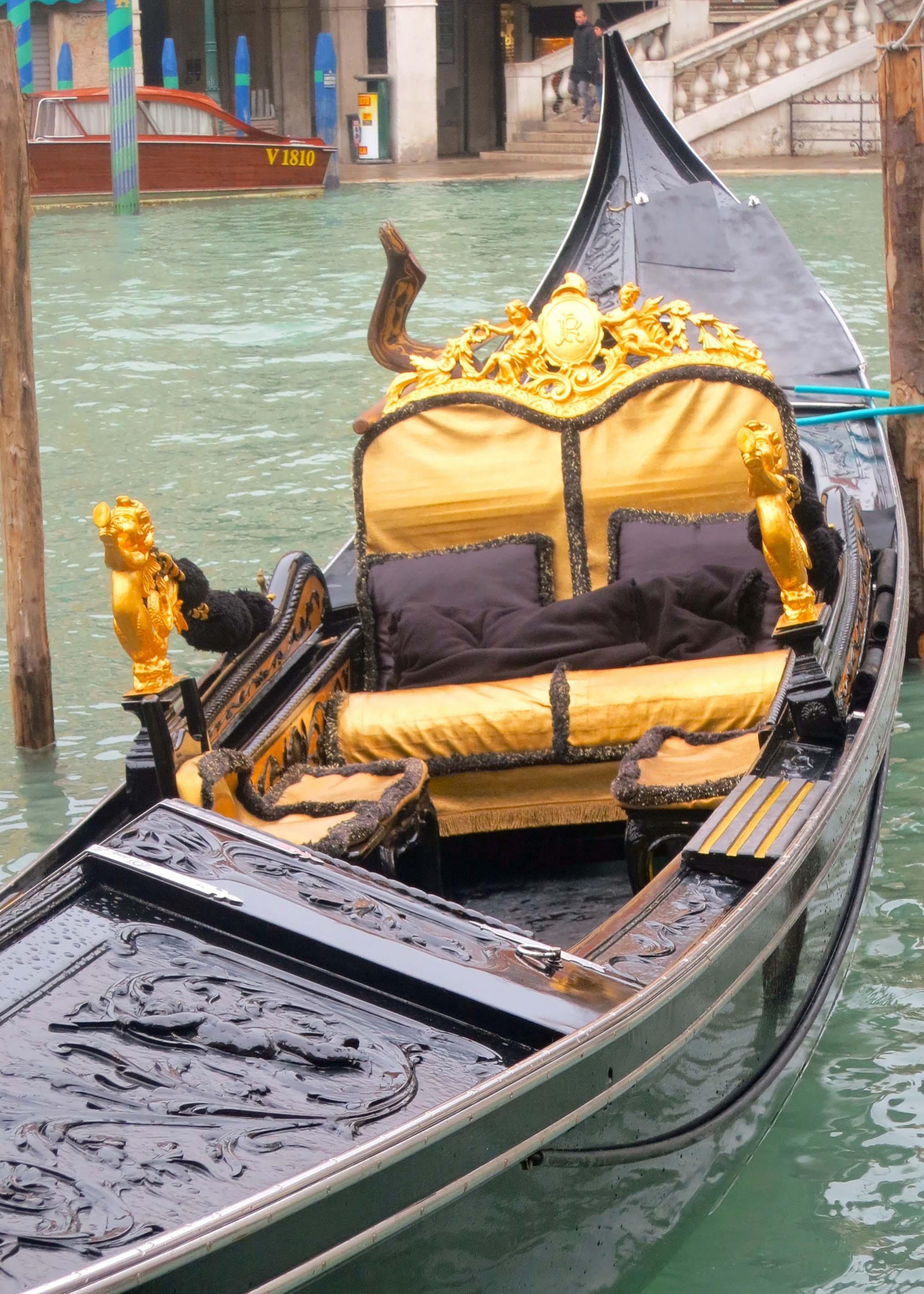 Luxury accommodations gondola style.