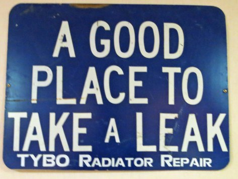 As was the old add for a radiator shop.