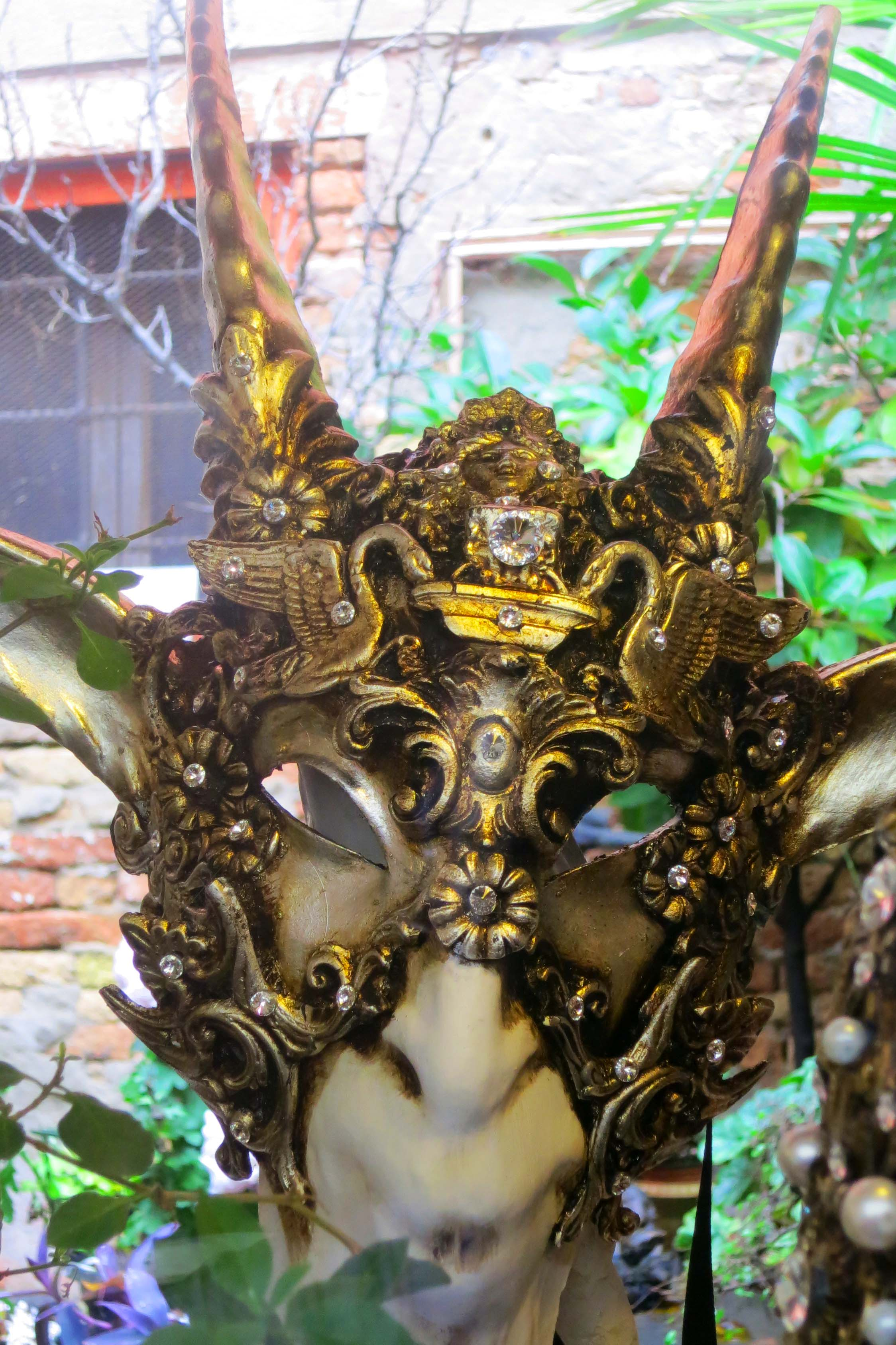 The faun-like character of this mask is obvious. Once again, it displays the incredible detail of many of the Venetian masks.