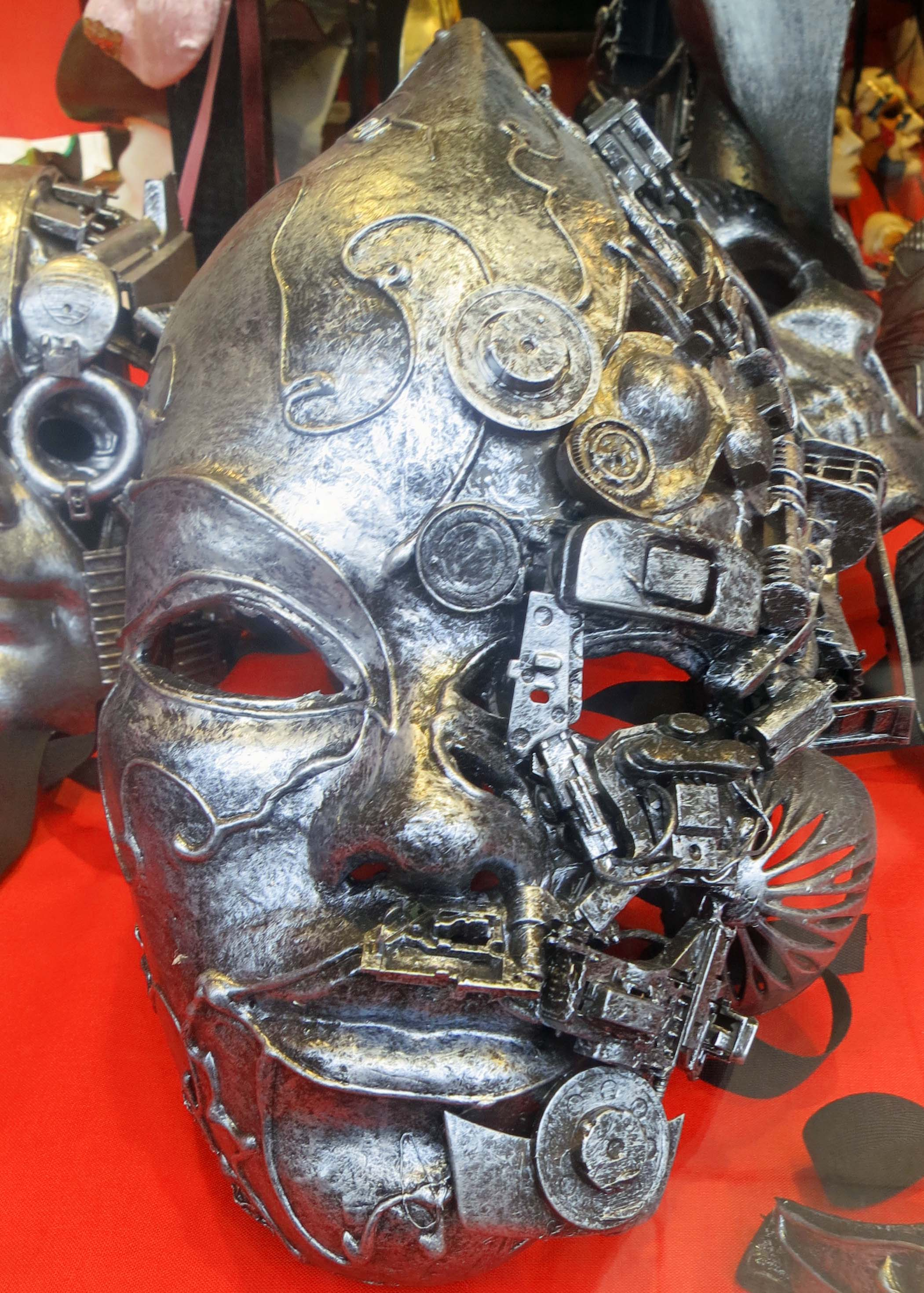 I will conclude with this modern mask of part man and part machine... a scary prediction of the future?