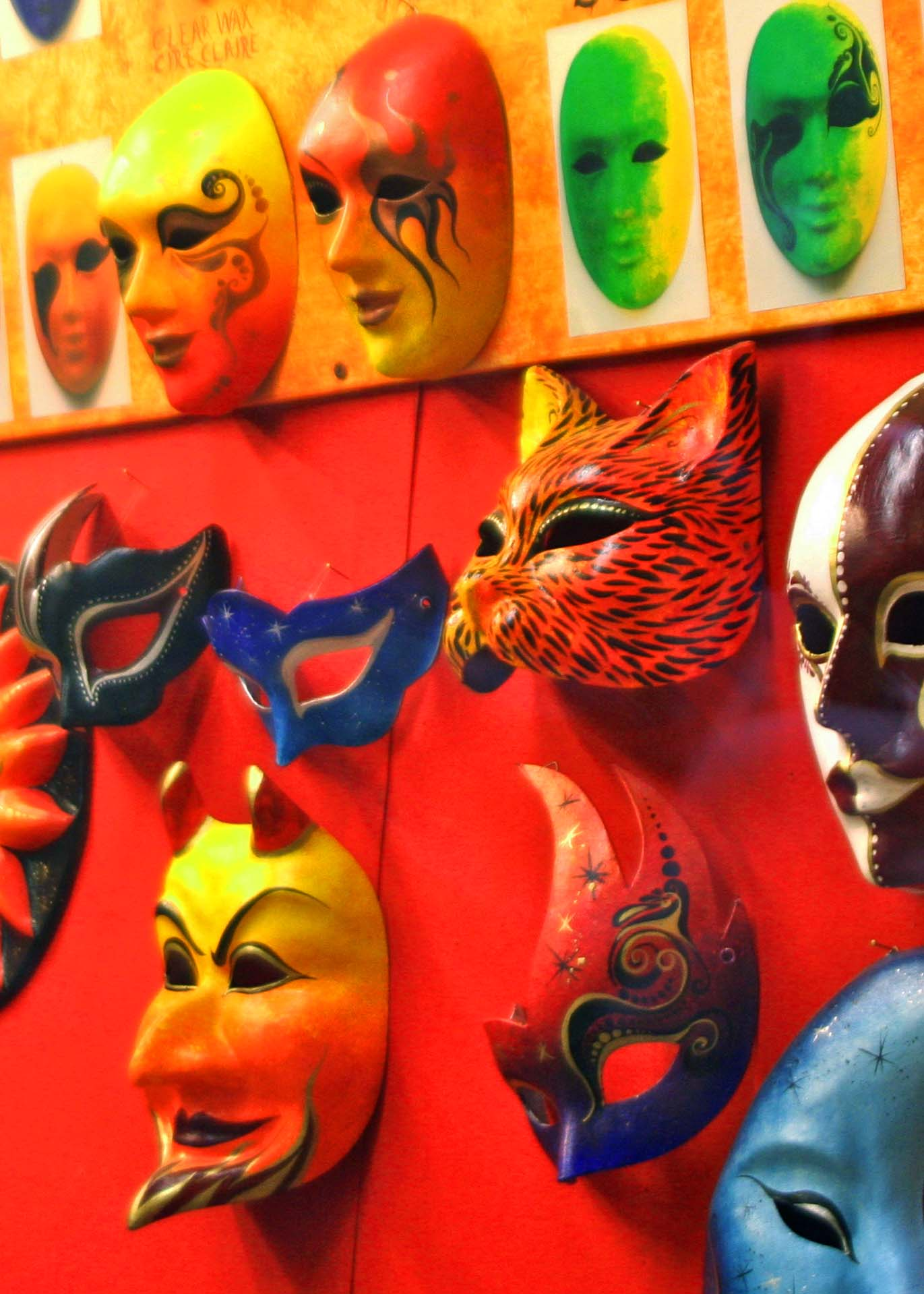 I like this window display of Venetian masks because of its variety.